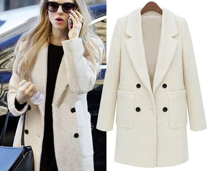 Palton de iarna pentru femei cu guler si buzunare