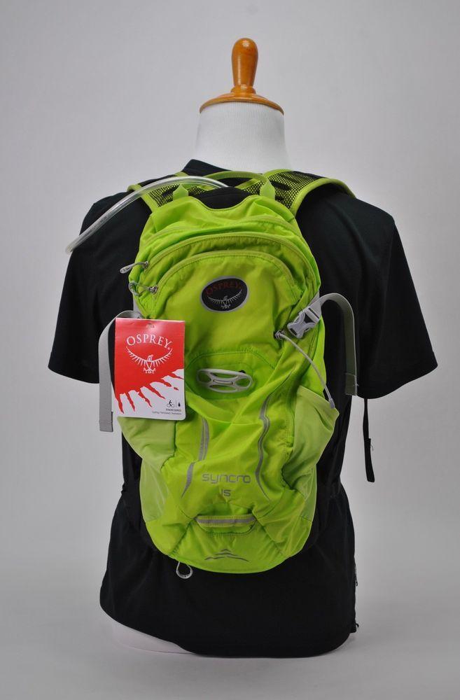 9291118ed825 Osprey Packs Syncro 15 Hydration Pack Velocity Green Medium/Large 46 ...