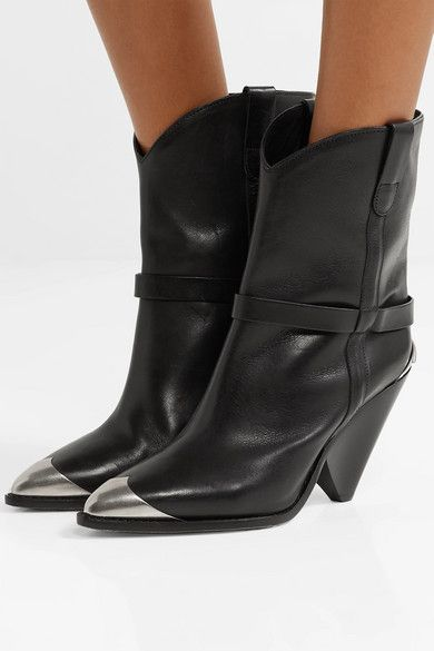 d01412cf156 Isabel Marant | Lamsy embellished leather ankle boots | NET-A-PORTER.COM