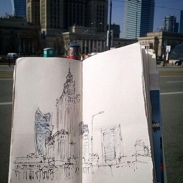 #warszawa #city #sketchbook #urbansketch #backpacking #drawing #travelanddraw #traveling #sketch #diariografico #poland