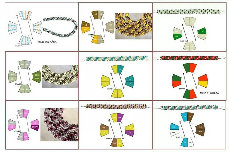 Kumihimo beads patterns