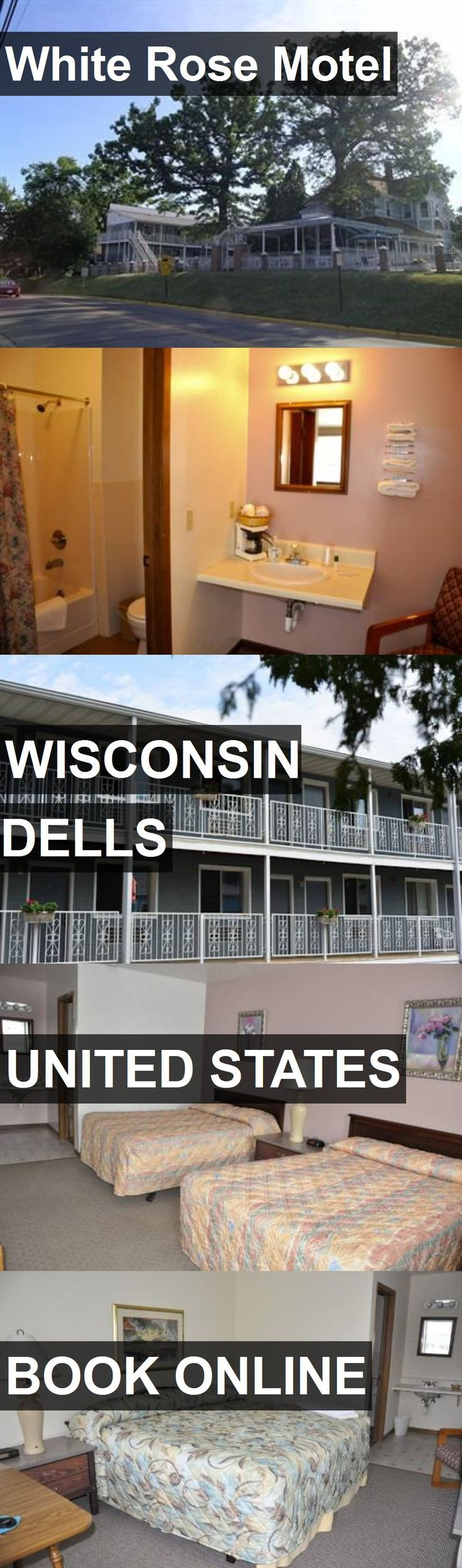 Hotel White Rose Motel in Wisconsin Dells, United States. For more information, photos, reviews and best prices please follow the link. #UnitedStates #WisconsinDells #WhiteRoseMotel #hotel #travel #vacation