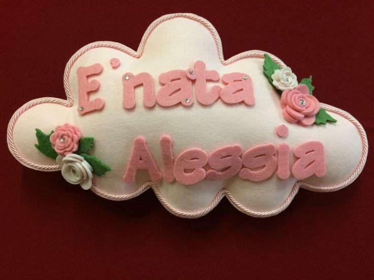 Fiocco nascita bambina, by Merceria dell'angolo, 25,00 € su misshobby.com