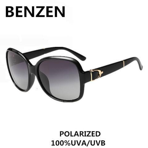 Women Sunglasses Polarized Elegant Oversized Female Sun Glasses  Black Oculos De Sol Feminino  Gafas De Sol With Case 6060