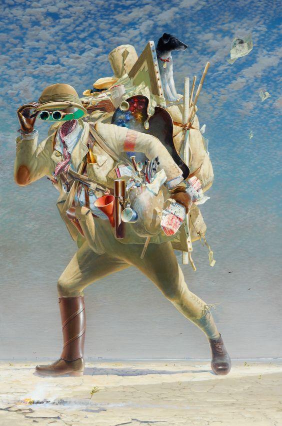 Tim Storrier 'The histrionic wayfarer (after Bosch) ' 2012 winner