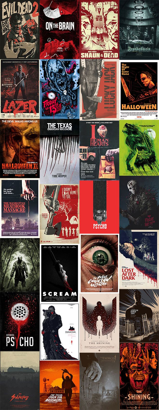 The run up to Halloween is the perfect time to absorb some inspiration from horror films! Designers, artists and illustrators love to produce fan art for their favourite movies, and the scary film genre provides plenty of creative avenues for them to explore. In today's showcase I present 30 freakishly good alternative movie posters and …