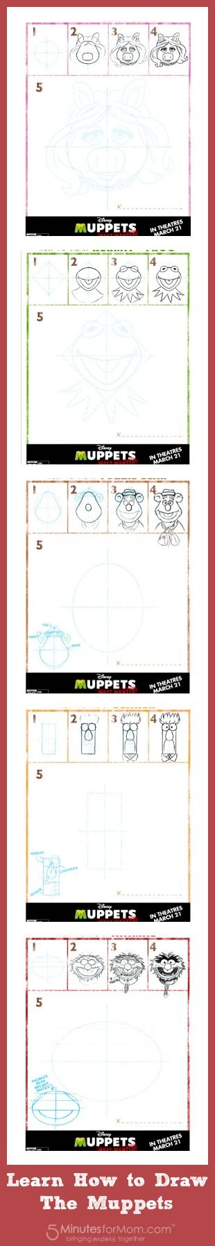 Muppets Most Wanted Activity Sheet - Learn How To Draw The Muppets  #MuppetsMostWanted