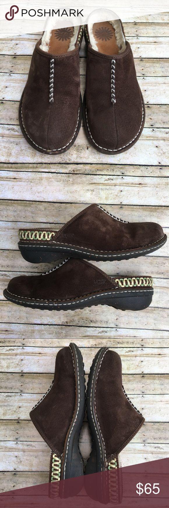UGG 'Kohala' Mule Clog UGG 'Kohala' SZ 8 Brown Suede & Shearling Mule Clog. EUC. UGG Shoes Mules & Clogs