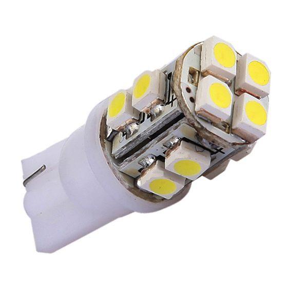 R, Car Side Wedge Light Bulb Lamp T10 12 LED SMD WHITE
