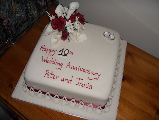 Best images about th anniversary cake ideas on