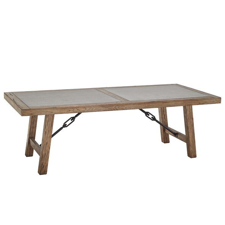 Dakota Oak Reinforced Concrete Trestle Dining Table By INSPIRE Q Artisan |  Overstock.com Shopping