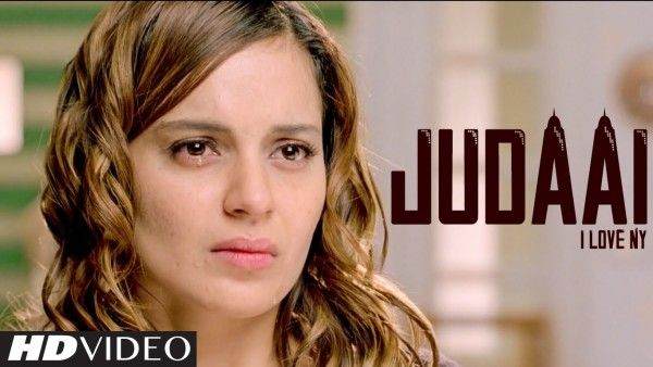 Judaai is a melancholic song.  But what subdues (or aggravates) the sadness is the splendiferous beauty of Kangana Ranaut.