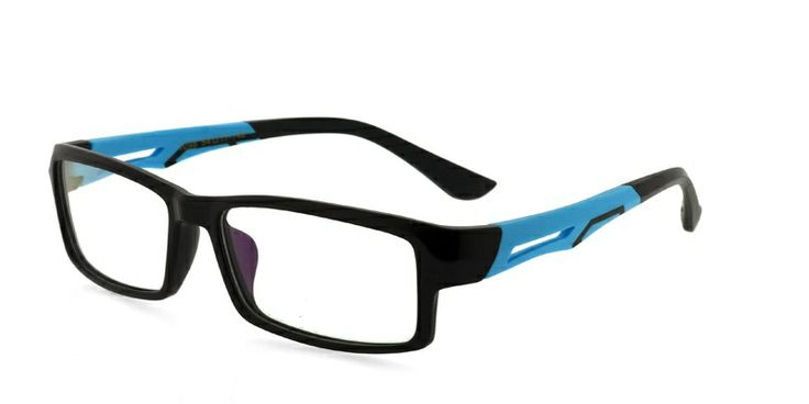 Sharp 1098 Black w/Blue Presciption Eyeglasses From 59