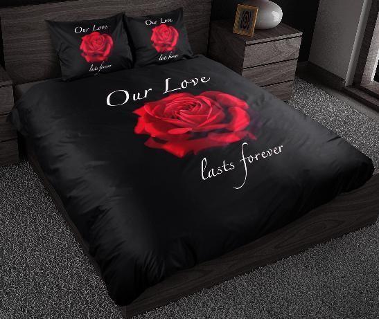 Sleeptime Dekbedovertrek Our Love zwart