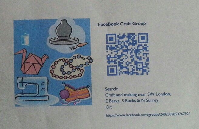 Local Facebook network group for crafty types.