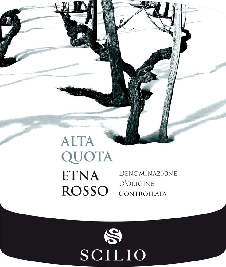 Label for Alta Quota - Etna Rosso, by Scilio - Italia