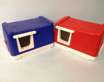 Heated Cat Pod House/2 Doors Ships Next Bus. Day by stabob on Etsy
