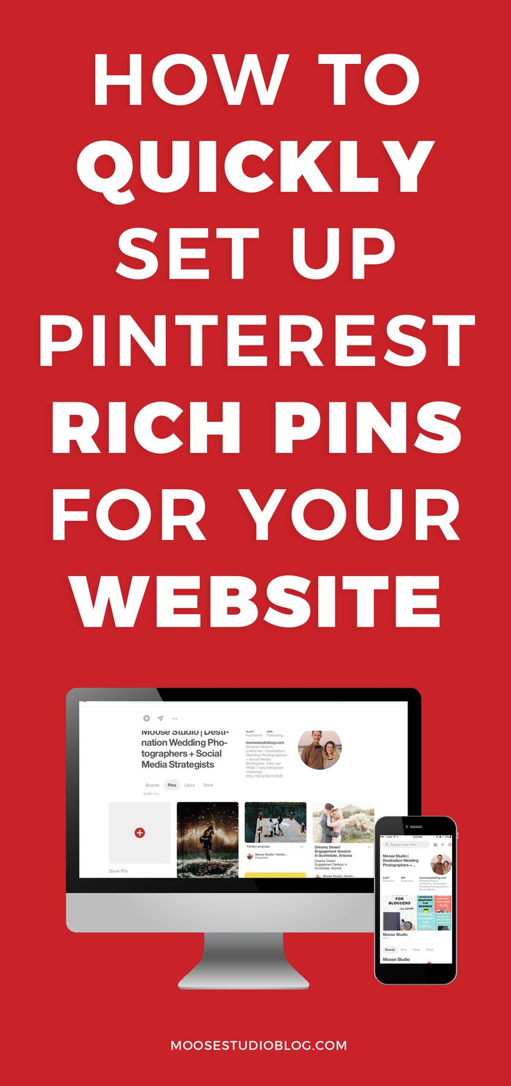 How To Quickly Set Up Pinterest Rich Pins For Your Website