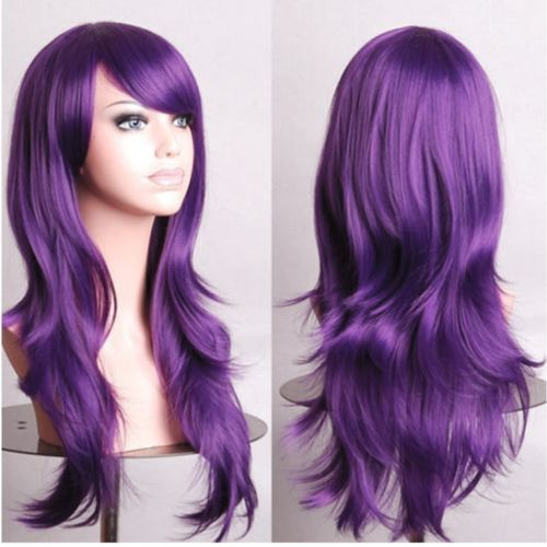 US-Fancy-Rainbow-Costume-Cosplay-Wigs-Long-Curly-Ombre-Purple-Red-Pink-White-Wig