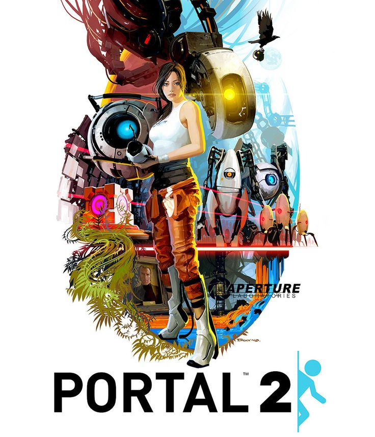 Portal Movie Style Poster - Movies, Sci-fi, Videogames