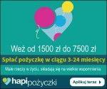 Hapi pożyczki to szybkie pożyczki ratalne pozwalające otrzymać w 15 minut kwotę od 1 500 zł do 7 500 zł na okres od 3 do 24 miesięcy, bez sprawdzania Klienta w BIK. Hapi to nowa marka Provident Polska, który pod tą nazwą rozpoczął sprzedaż pożyczek w 100% przez internet. Zamów w Hapi
