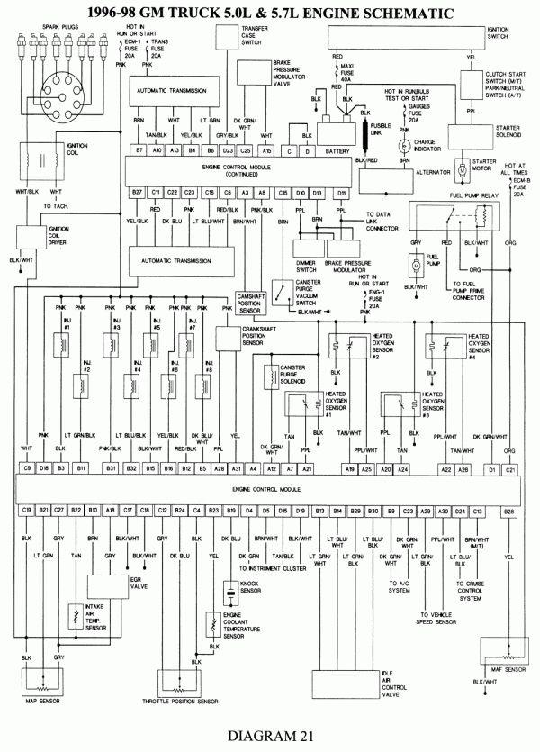 10 96 Tahoe Engine Wiring Diagram Engine Diagram In 2020