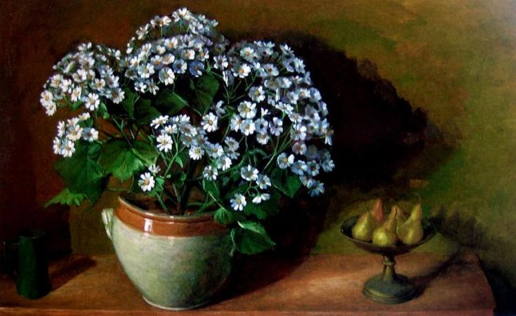 Daisies with Pears and Jug c. 1976,  Margret OLLEY