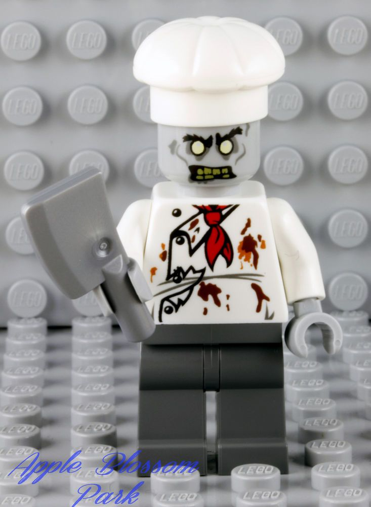 NEW Lego ZOMBIE CHEF MINIFIG - Monster Fighters Halloween Head Minifigure 10228 #LEGO