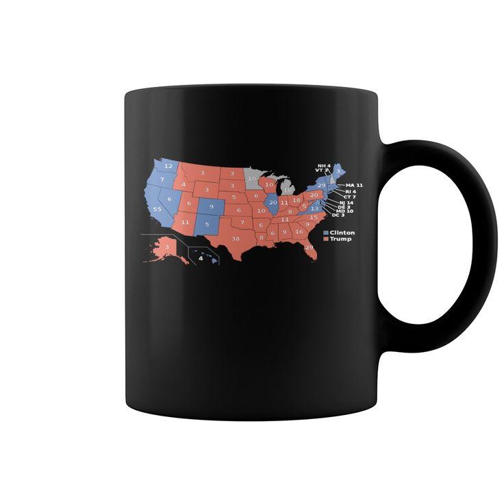 2016 Presidential Election Map Shirt Mug  coffee mug, papa mug, cool mugs, funny coffee mugs, coffee mug funny, mug gift, #mugs #ideas #gift #mugcoffee #coolmug