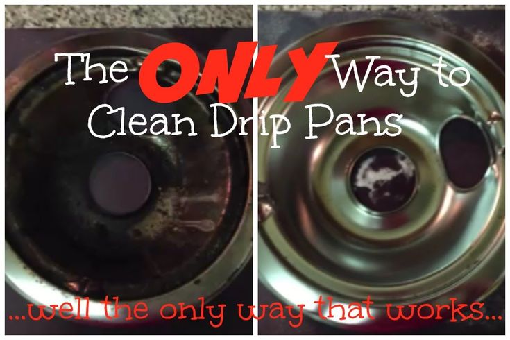 She Use An Amazing Technique To Get This Drip Pan Clean As A Whistle!