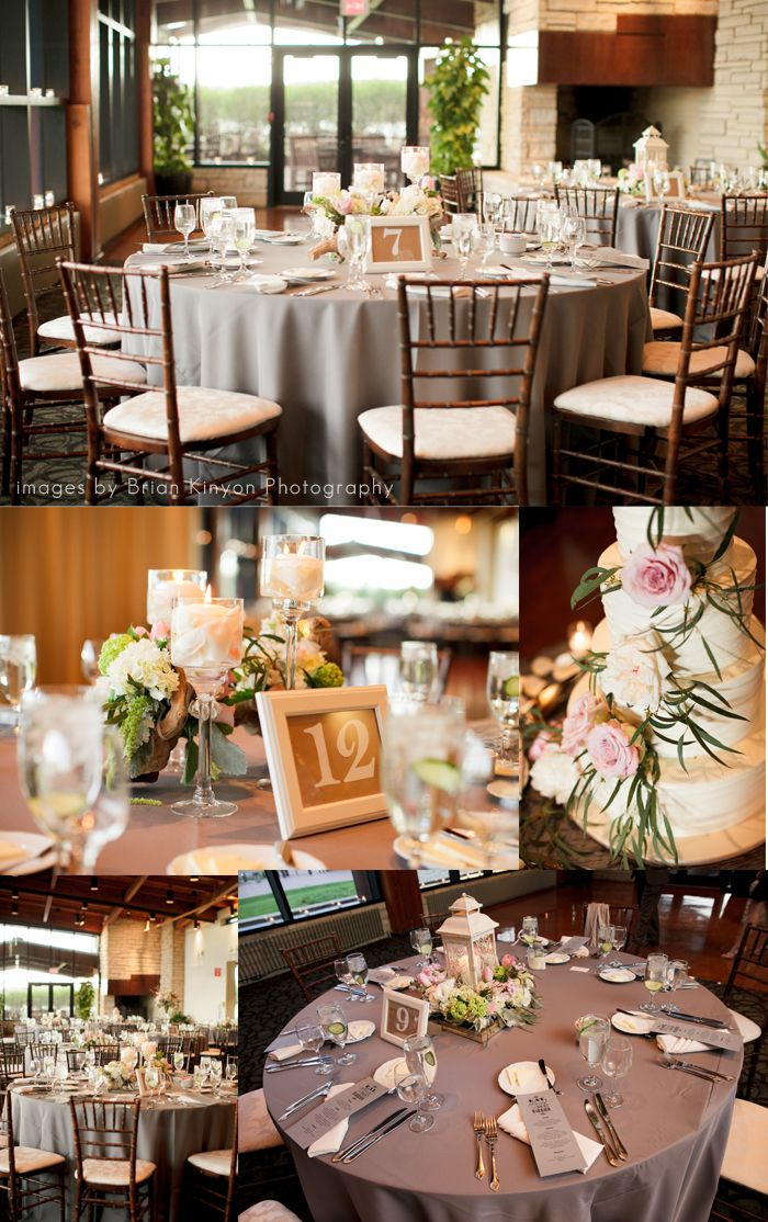 Pink White and Green Branch Wedding