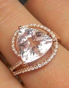 Engagement Ring - 3 Carat Morganite Ring