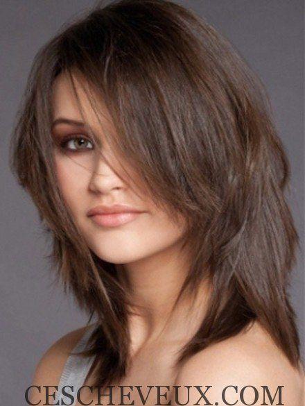 Coiffure mi long cheveux fins