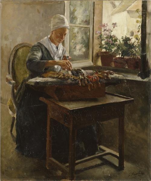 Spetsknypplerskan 1885 - Pauli Georg