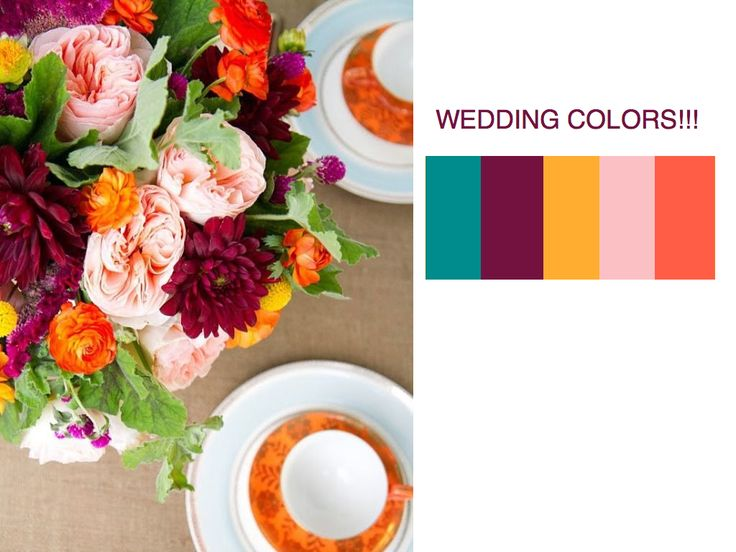 Wedding colors for an early fall wedding