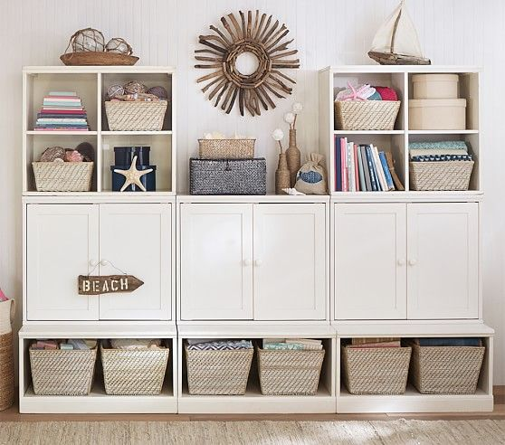 playroom cameron wall storage system pottery barn kids