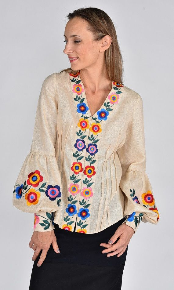 Fanm Mon SS17 Collection ORA Vyshyvanka Top Floral Emboidery Blouse