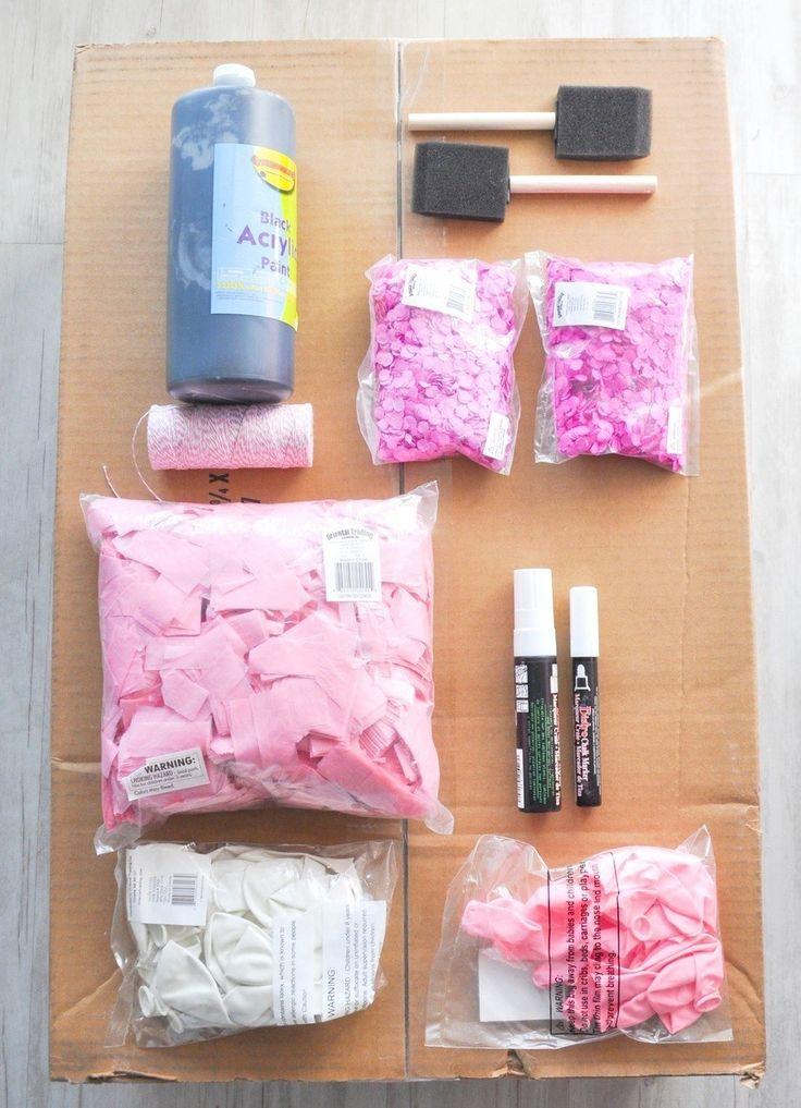 diy gender reveal confetti box tutorial