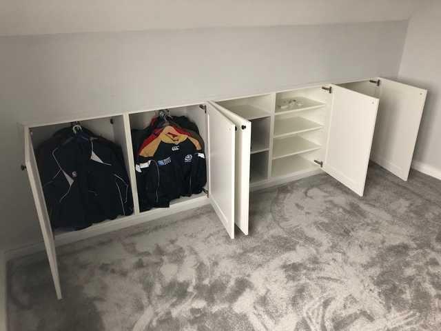 Ikea Hack Built In Storage In Knee Wall Knee Wall Attic Bedroom Storage Loft Storage