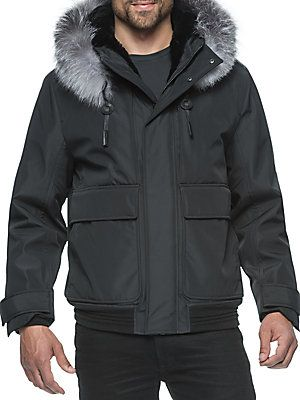 ANDREW MARC FUR LONG SLEEVE ANORAK. #andrewmarc #cloth #