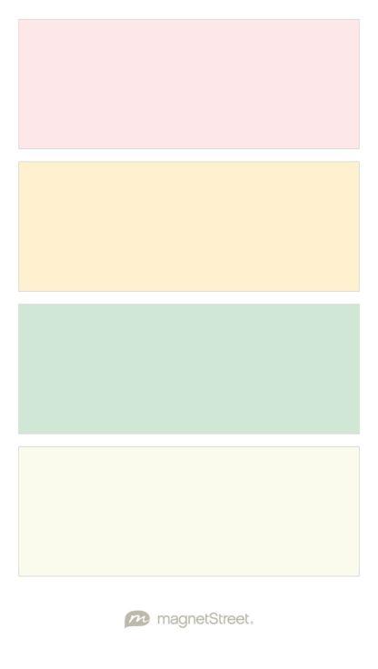 Cream Rose, Pale Peach, Custom Green, and Ivory Wedding Color Palette - custom color palette created at MagnetStreet.com