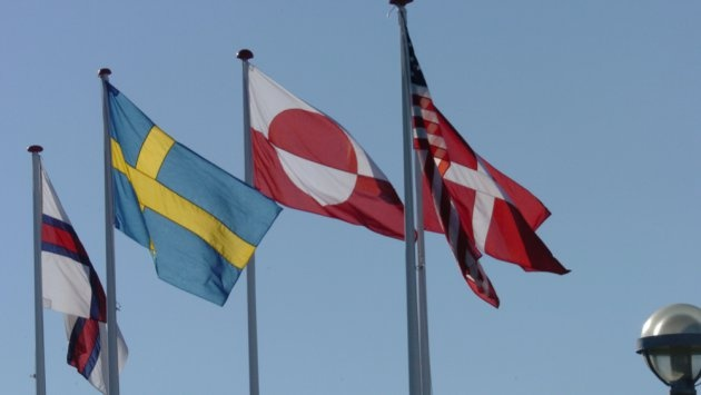 And what is the US flag doing amongst these Scandinavian flags? Can you name the others?