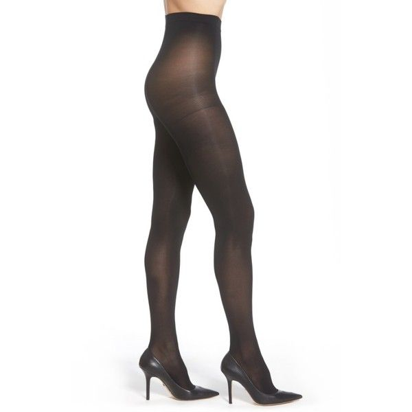 Women's Nordstrom 2-Pack Opaque Control Top Tights ($16) ❤ liked on Polyvore featuring intimates, hosiery, tights, black, nordstrom tights, opaque tights, opaque stockings, nordstrom hosiery and opaque pantyhose