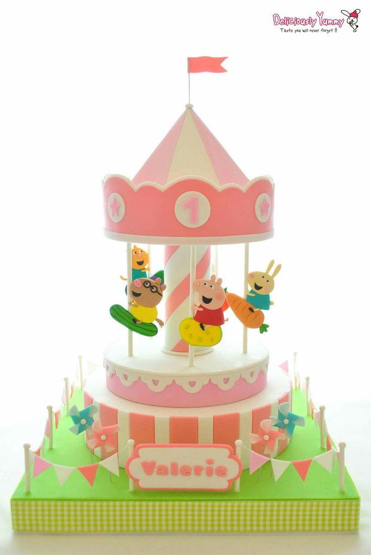 Pepa Pig Carousel Cake
