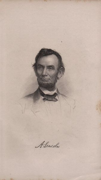 Very rare old 1870/1890 era steel engraved picture of Abraham Lincoln with engraved autograph. The picture is heavier paper with some browning due to age and small brown age spot near middle of right side. The picture is 5 1/2 inches wide and 9 1/2 inches long