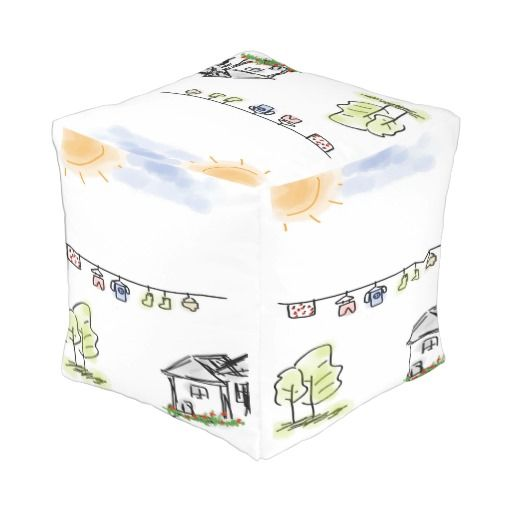 Custom Outdoor Cubed Pouf (Small)