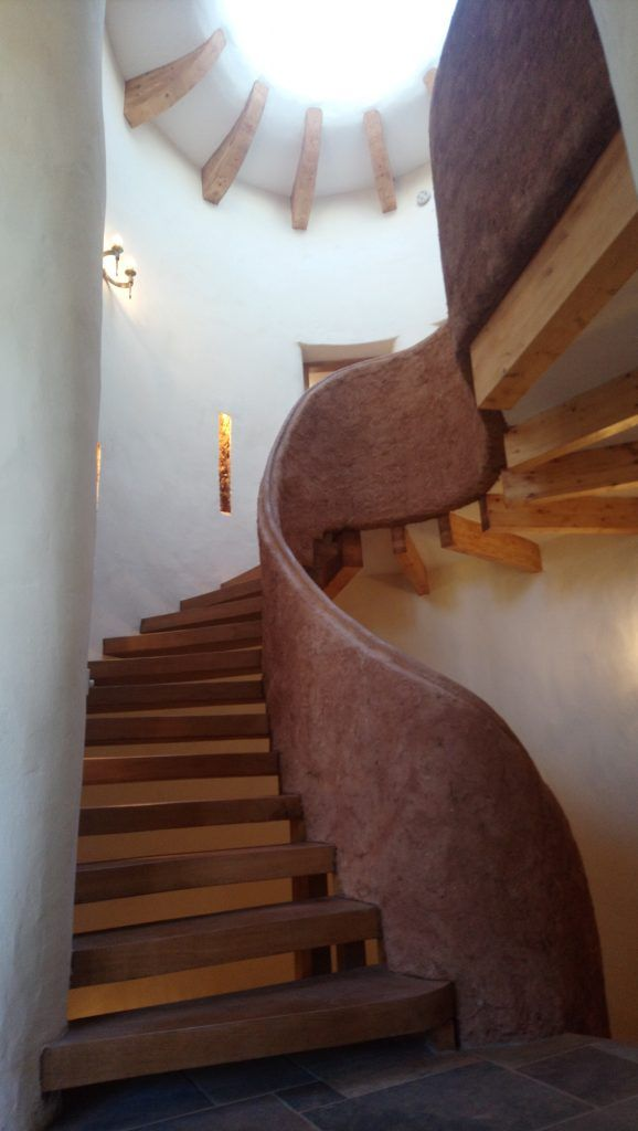Dingle Dell Kevin Mccabe Cob Building Specialist Finished Stairway Cob Building Building Systems Cob House