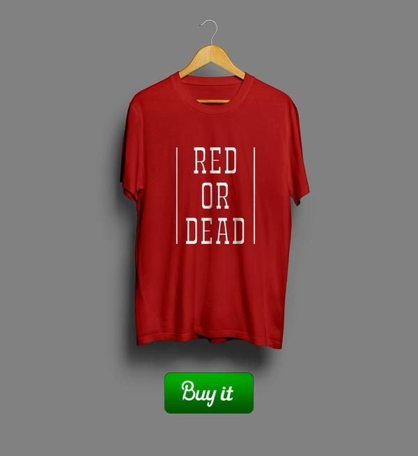 Red or dead    #Ливерпуль #Liverpool #FC #Football #Футбол #ФК #Футболка #tshir #alone #LFC