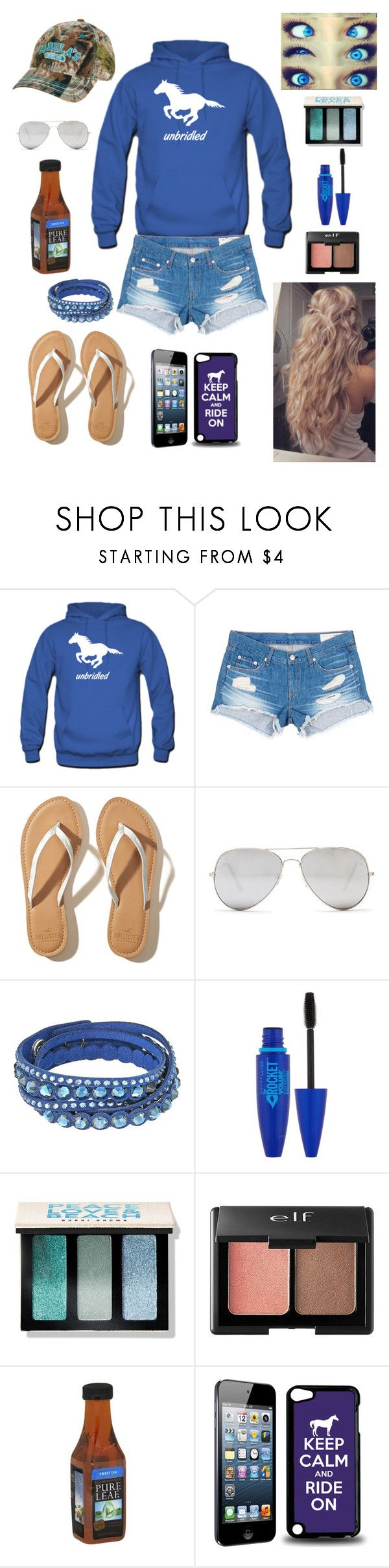 """That's me "" by cassidymiller-1 ❤ liked on Polyvore featuring rag & bone/JEAN, Hollister Co., Sunny Rebel, Swarovski, Maybelline, Bobbi Brown Cosmetics and Charlotte Russe"
