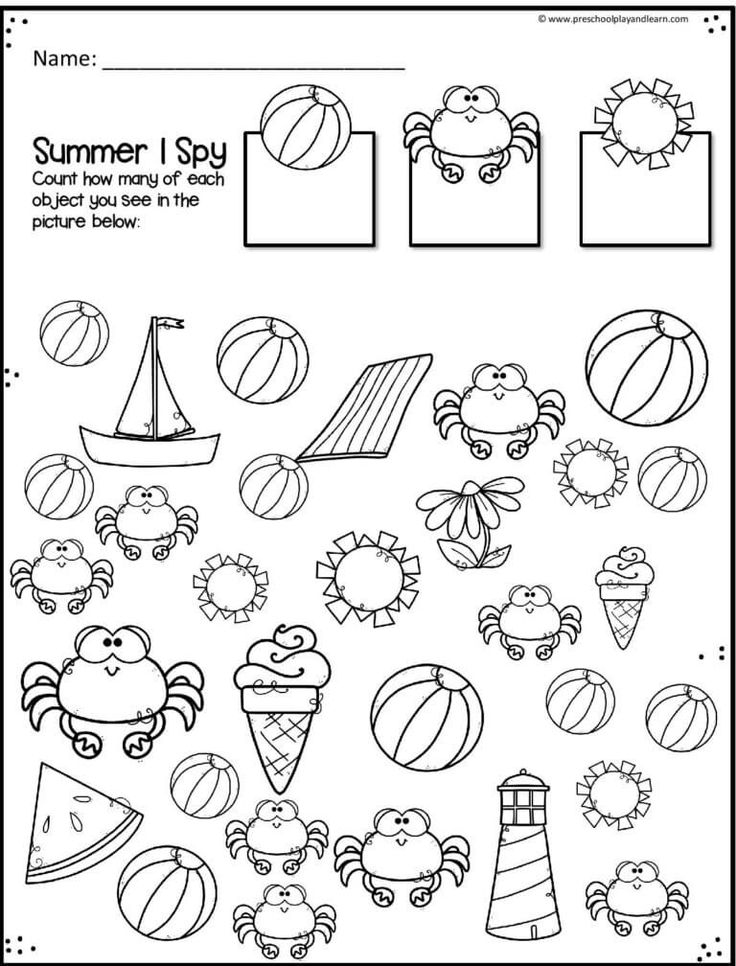 FREE Summer Number Worksheets Summer math worksheets
